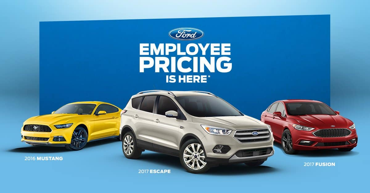 Employee Pricing At Windsor Ford
